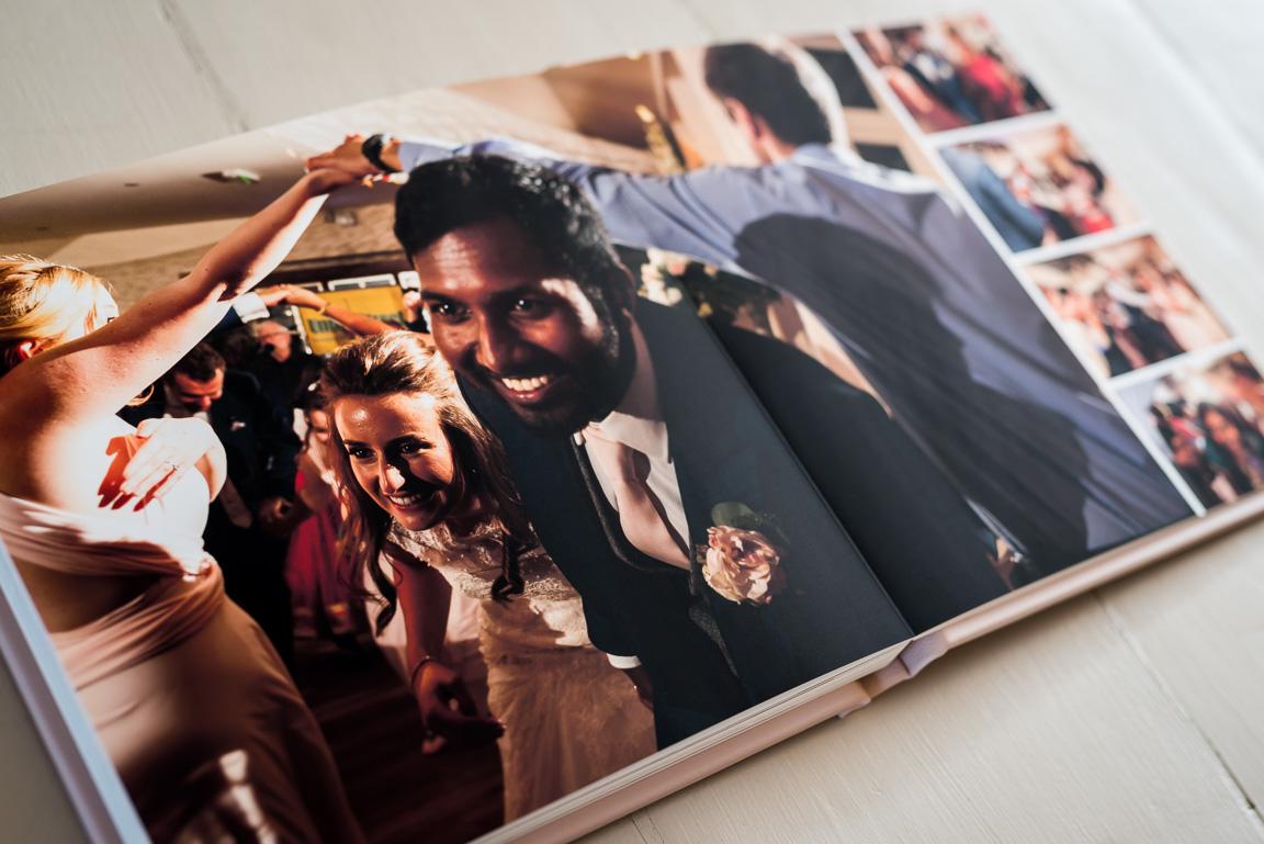 Fine Art wedding album spread