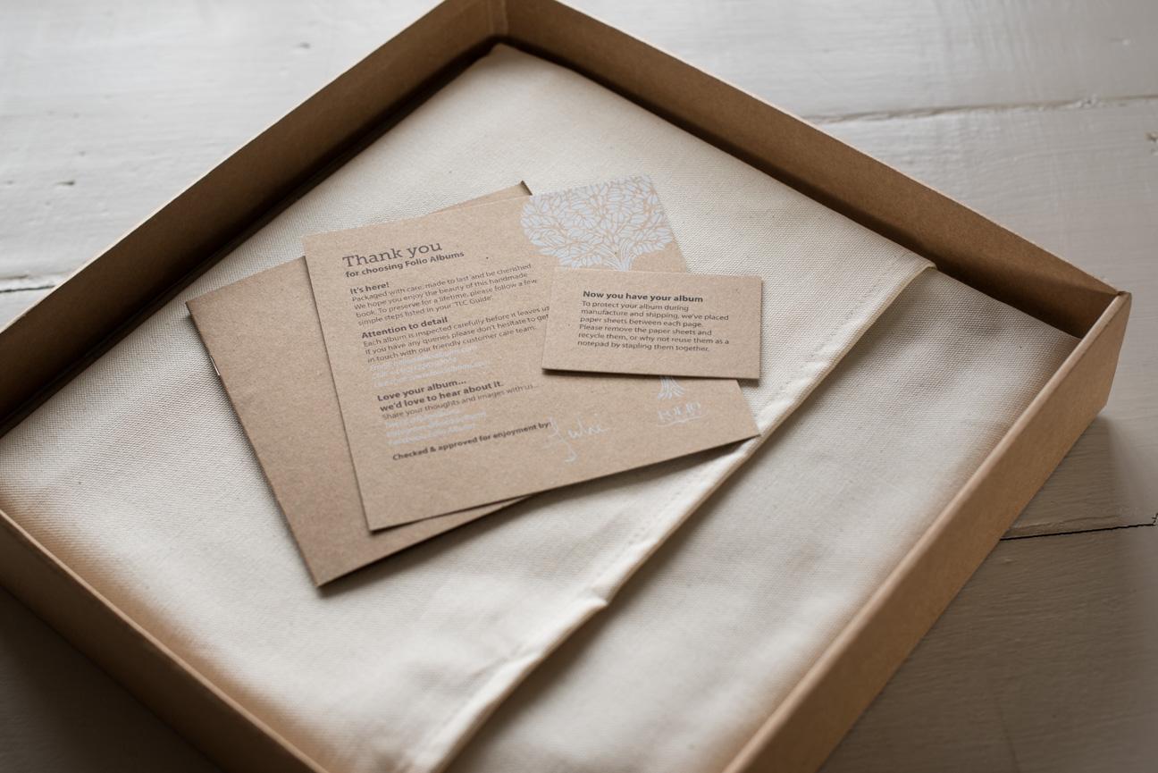 folio wedding album packaging
