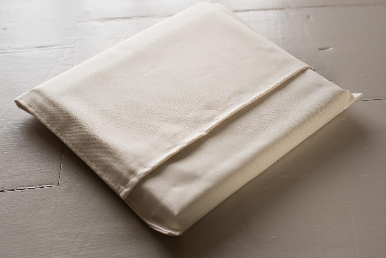 folio fine art wedding album in cloth bag