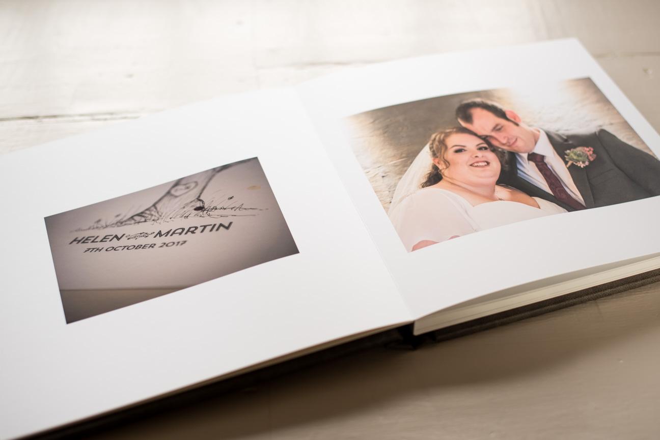 spread from fine art wedding album