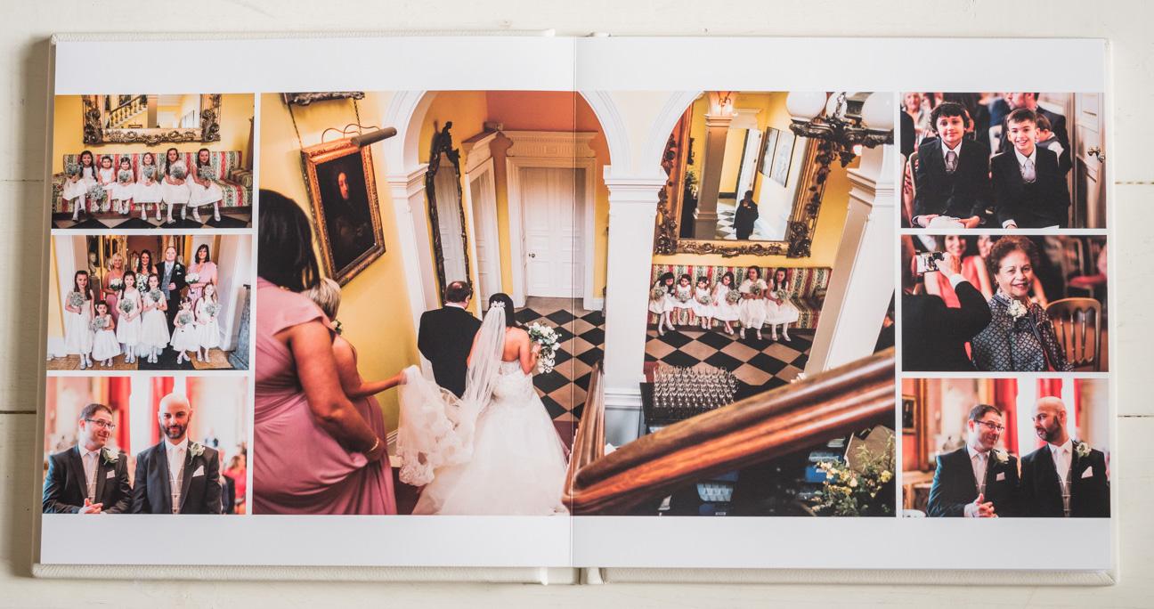 wedding album spread of capesthorne hall wedding
