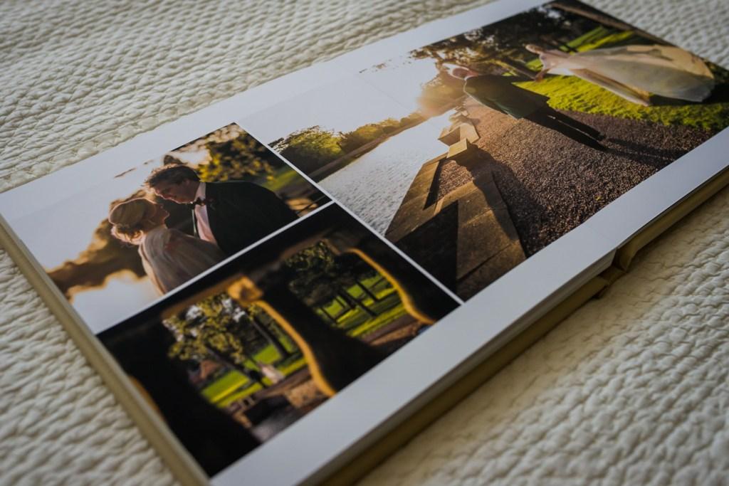 custom made photo album spread detail