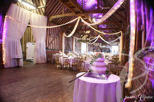 Venue Dressing At Lillibrooke Manor Wedding Creative