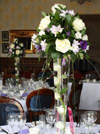 Real Wedding  Jennis Purple and White Wedding Flowers