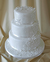 Snowflake Wedding Cake  Perfect For A Winter Or Holiday Wedding
