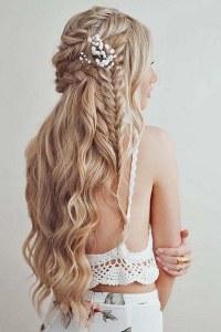 38 Gorgeous Half Up Half Down Wedding Hairstyles - Wedding ...