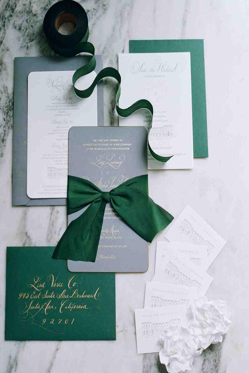 Grey Wedding Invitations  Wedding Ideas By Colour  CHWV