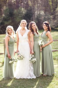 Green Bridesmaid Dresses | Wedding Ideas By Colour | CHWV