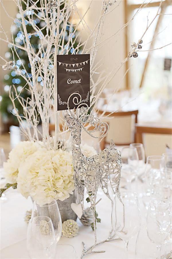 Winter Wedding Centerpiece Idea