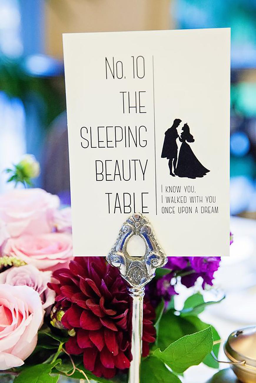 Disney Wedding Table Name Ideas | CHWV