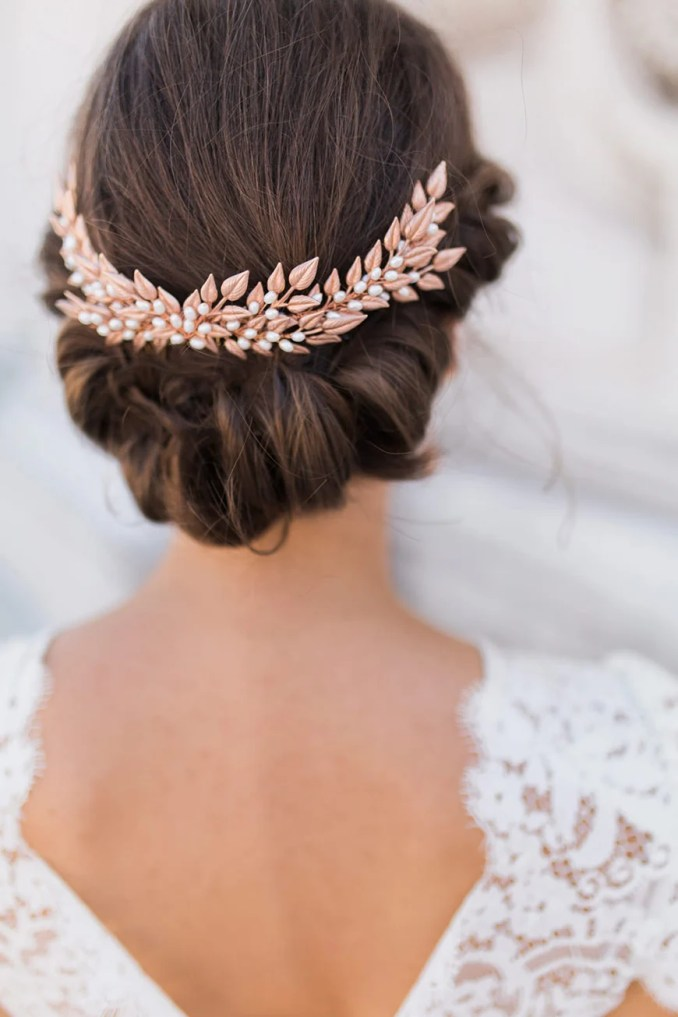 gold wedding hair accessories   wedding ideas by colour   chwv