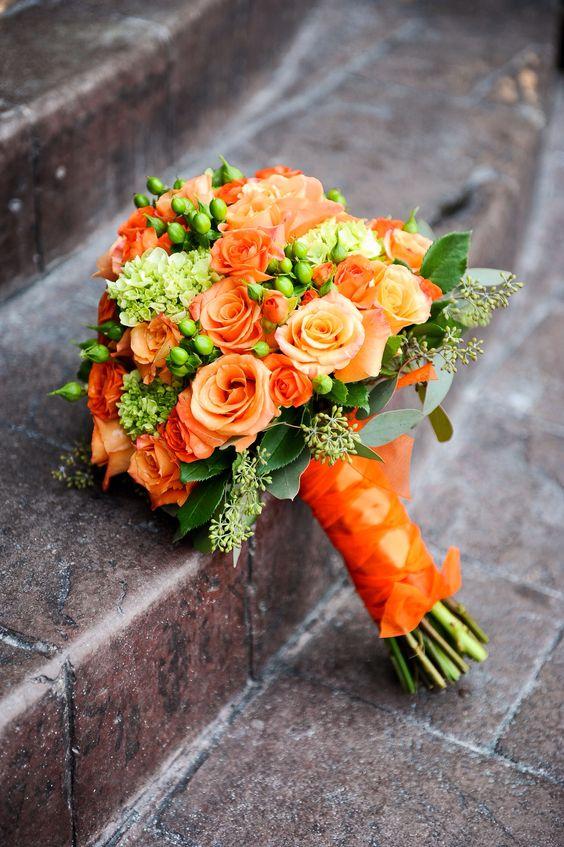 Orange Wedding Flowers Wedding Ideas By Colour Chwv