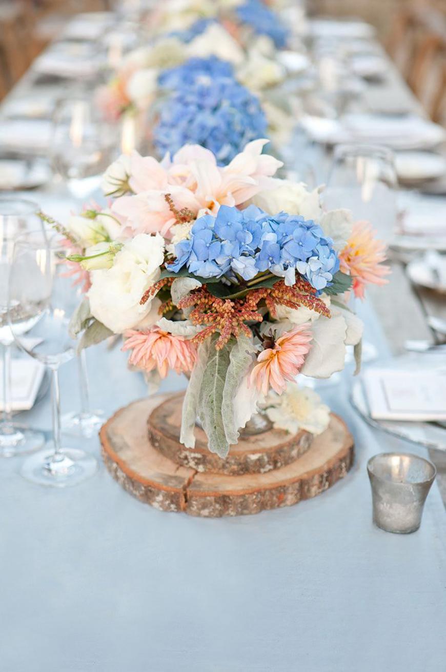 Blumen Hochzeit Blau Weiss