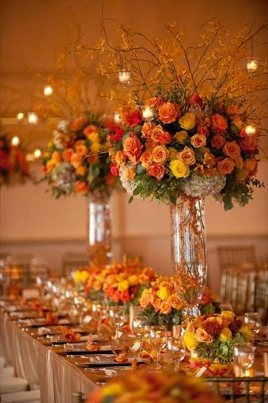 November Wedding Centerpieces