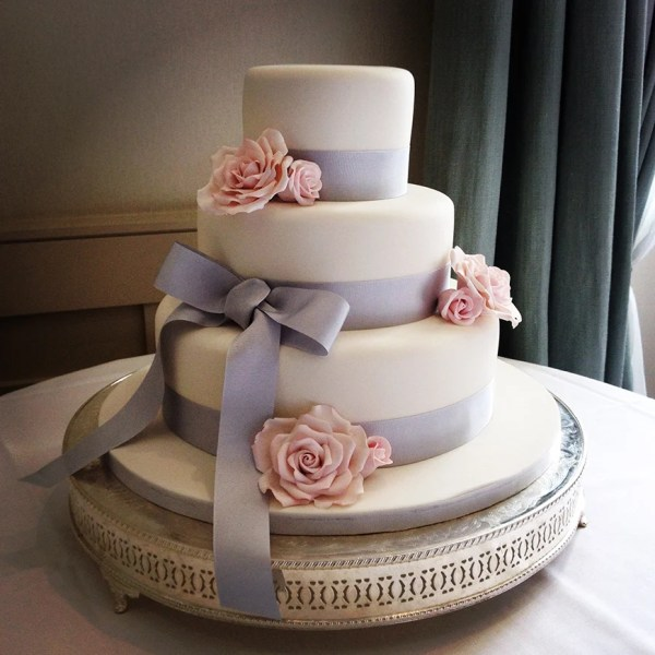 Silver Wedding Cake Decorations Ideas Colour
