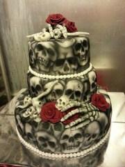 halloween wedding cakes chwv