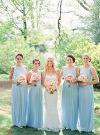 Pastel Blue Bridesmaid Dresses | Wedding Ideas | CHWV
