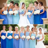 Pastel Blue Bridesmaid Dresses | Wedding Ideas | CHWV