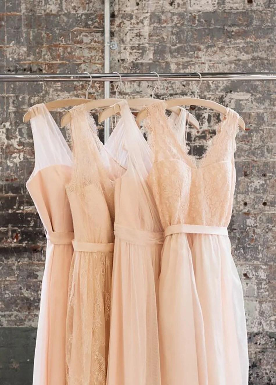 Peach Bridesmaid Dresses  CHWV