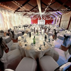 Wedding Chair Covers Melton Mowbray Red Club And Ottoman Country House Venue Leicestershire Brooksby Hall In Set Up For A Reception Chwv