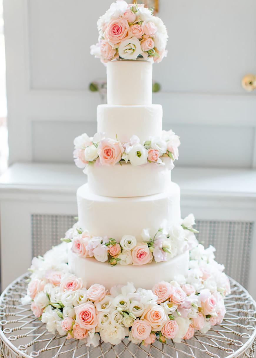 White Wedding Cakes Wedding Ideas By Colour Chwv