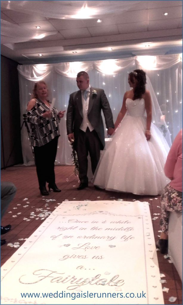 fairytale wedding aisle runner