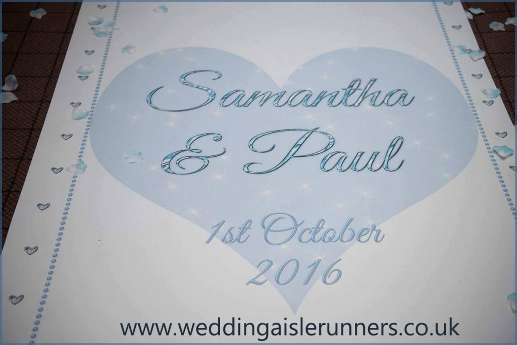 personalised wedding aisle runner design