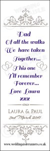 Laura-dad of all the walks - wedding aisle runner