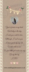 Personalised wedding aisle runner with verse for dad