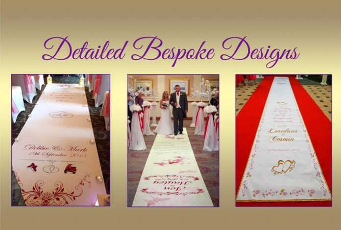 Bespoke Wedding Aisle Runner from weddingaislerunners.uk