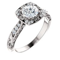 127659W Sculptural Engagement Ring