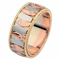 6872202R 14 K Rose Amp White Gold Wedding Ring