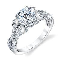 E32526WE Sculptural Diamond Engagement Ring