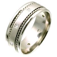 C124431W 14K Diamond Wedding Band