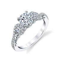 E32921PP Diamond Sculptural Engagement Ring