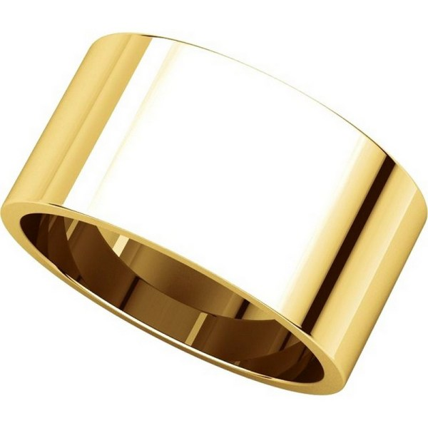 F33661e 18k Yellow Gold 10mm Wide Wedding Band