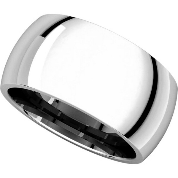 S116872w 14k White Gold Heavy 10mm Wide Comfort Fit