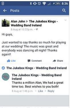 Wedding Band Review Alan John