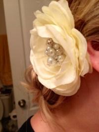 The One Where I Made a Flower Hairpiece | Weddingbee