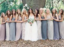 Pics For > Mismatched Bridesmaid Dresses Purple