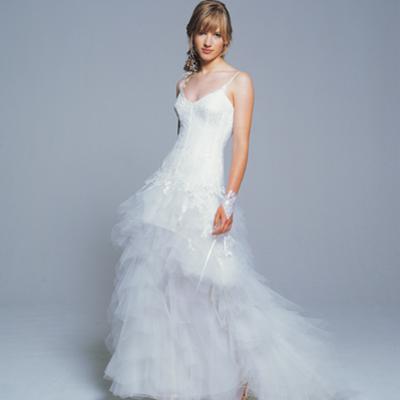 Elegante wijde trouwjurk