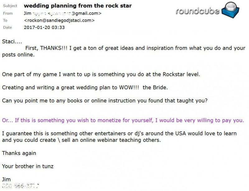 Rock My Wedding Email