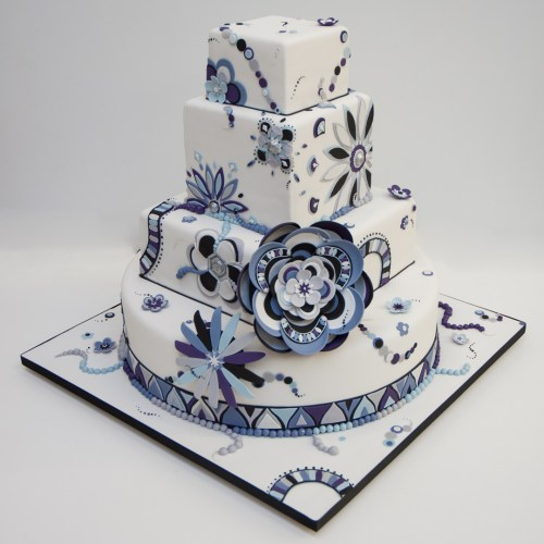 Breathe A Breath Of Botanical Fresh Air Into Your Cake Design With Bold And Bright Floral Print For Spring