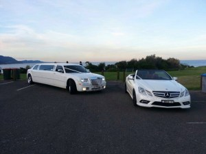 Mercedes E Class, in our modern range, book 2 or more wedding cars and get a free getaway in our stretch Chrysler 300c