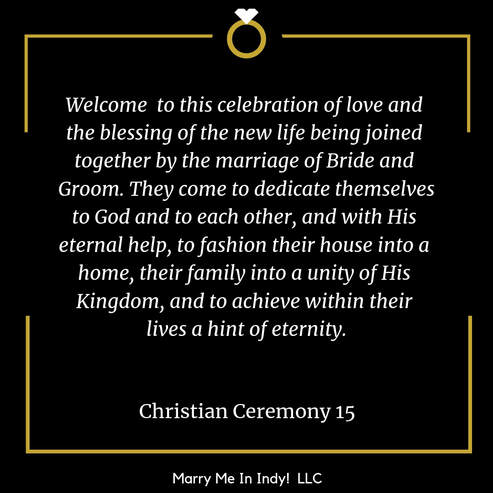 christian wedding ceremony schristian