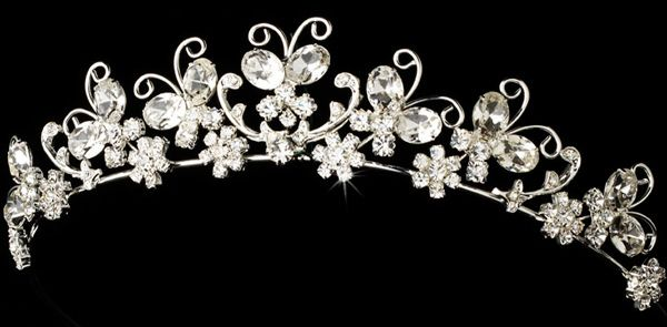Butterfly bridal tiara