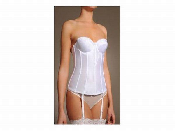 Dominique longline strapless torsolette bra