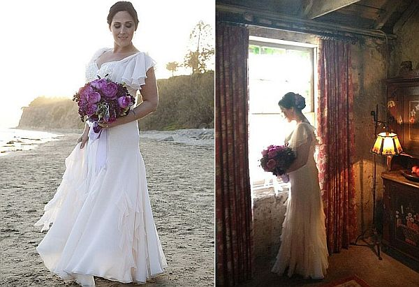 Pictures of Ricki Lake in her wedding dress