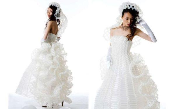 White Balloon Wedding Gown