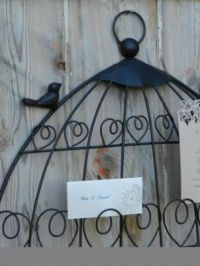 BIRDCAGE TABLE PLAN HOLDER